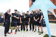 (L-R All Blacks Luke Romano, Liam Messam, TJ Perenara, Aaron Smith,  Codie Taylor, Sam Cane, Wyatt Crockett, Kieran Read attend the Haka 360 Experience Launch Event at Oxo Tower Wharf South Wharf on September 12, 2015 in London, England. The Haka 360 Experience is an app which uses 360 degree video technology to give the viewer the feeling of being on the field with the All Blacks and in the midst of the powerful Maori ritual. The app is available via aig.com/haka360, on the App Store and Google Play.