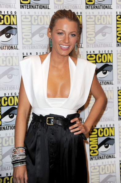 "Actress Blake Lively attends the ""Green Lantern"" Carpet at Comic-Con 2010 on"