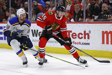 Blake Hillman St Louis Blues v Chicago Blackhawks
