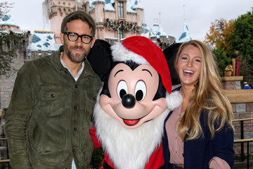 Blake Lively Ryan Reynolds and Blake Lively Celebrate the Holidays at Disneyland