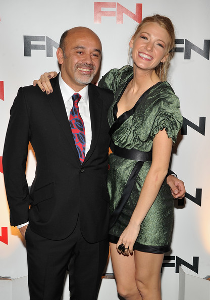 Christian Louboutin and Blake Lively - 24th Annual Footwear News Achievement Awards