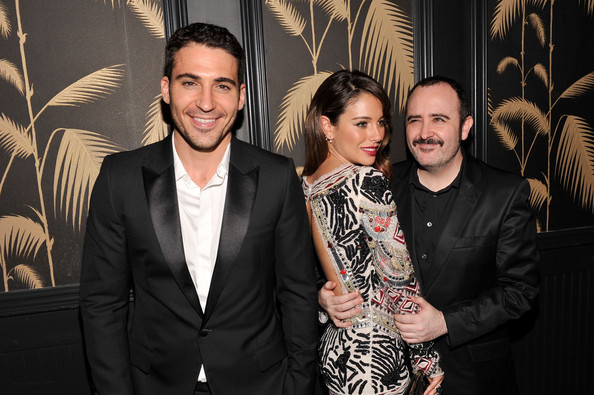 'I'm So Excited' Screening Afterparty in NYC [im so excited,the cinema society with deleon host,event,fashion,photography,premiere,fashion design,suit,black-and-white,smile,style,blanca suarez,carlos areces,miguel angel silvestre,r,girard-perregaux,sony pictures classics,screening,party]