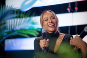 Actress Karrueche Tran speaks on stage during the Blavity Inc.'s Summit21 Influencer Conference for black women on June 08, 2019 in Atlanta, Georgia.