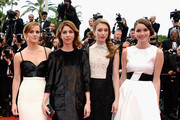 (L-R) Actress Emma Watson, director Sofia Coppola and actresses Taissa Farmiga and Katie Chang attend 'The Bling Ring' premiere during The 66th Annual Cannes Film Festival at the Palais des Festivals on May 16, 2013 in Cannes, France.