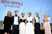 (L-R) Director Sophia Coppola, actor Israel Broussard and actresses Emma Watson, Katie Chang, Taissa Farmiga and Claire Julien attend 'The Bling Ring' premiere during The 66th Annual Cannes Film Festival at the Palais des Festivals on May 16, 2013 in Cannes, France.