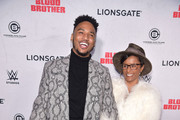 "Trey Songz and mother April Tucker attend the ""Blood Brother"" New York Screening at Regal Battery Park 11 on November 29, 2018 in New York City."