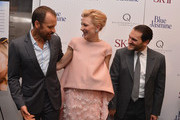 (L-R) Peter Sarsgaard, Cate Blanchett and Michael Stuhlbarg attend the 'Blue Jasmine' New York Premiere at the Museum of Modern Art on July 22, 2013 in New York City.