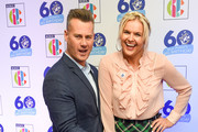 Tim Vincent and Katy Hill attend the 'Blue Peter Big Birthday' celebration at BBC Philharmonic Studio on October 16, 2018 in Manchester, England.