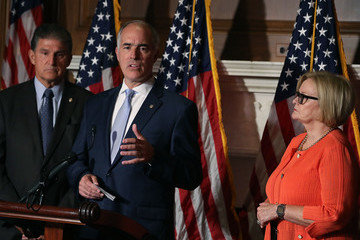 Bob Casey Senate Democratic Leader Chuck Schumer Holds News Conference To Discuss Proposal To Protect Those With Pre-Existing Conditions