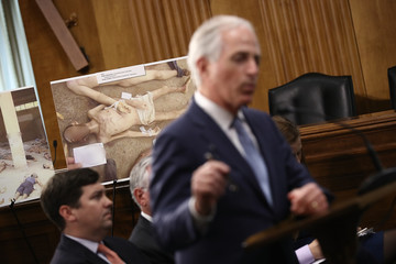 Bob Corker Senate Foreign Relations and House Foreign Affairs Ranking Members Hold Event Commemorating Syrian War Atrocities