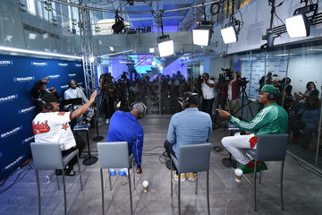 Bobby Brown Ronnie DeVoe RBRM Perform On SiriusXM's Heart & Soul Channel At The SiriusXM Studios In New York City