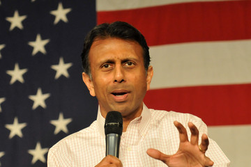 Bobby Jindal Republican Candidates Gather at Iowa GOP Event Held on State Fairgrounds