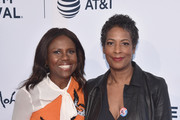 "Robin Roberts (L) and Director Dawn Porter attend ""Bobby Kennedy For President"" Red Carpet Premiere during 2018 Tribeca Film Festival at SVA Theater on April 25, 2018 in New York City."