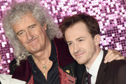 Brian May and Joe Mazzello attend the World Premiere of 'Bohemian Rhapsody' at SSE Arena Wembley on October 23, 2018 in London, England.