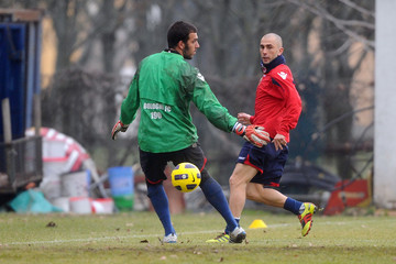 Emiliano Viviano Marco di Vaio Bologna FC Training Session