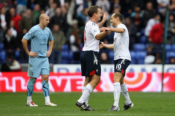 bwfc wallpapers. Martin Petrov of Bolton Wanderers celebrates with team mate Kevin Davies