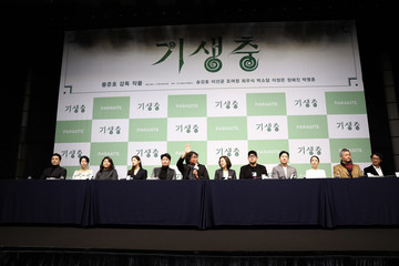 Bong Joon Ho Kwak Sin-ae 'Parasite' Cast And Crew Hold Press Conference In Seoul