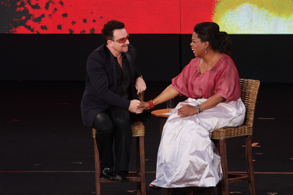 Bono Oprah Winfrey interviews Bono during the second taping of the 'Oprah Winfrey Show' at the Sydney Opera House on December 14, 2010 in Sydney, Australia. 12,000 audience members were selected from 350,000 applicants to participate in two tapings of 'The Oprah Winfrey Show' at the Sydney Opera House. Oprah descended on Australia last week with 302 super fans from the US, Canada and Jamaica to produce four shows for the 25th and final season of the program. the shows will air in the US and Australia in January 2011.