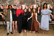 """(L-R) Austin Crute, Diana Silvers, Olivia Wilde, Beanie Feldstein, Kaitlyn Dever, Billie Lourd, Molly Gordon, and Jessica Williams attend the """"Booksmart"""" New York screening at the Whitby Hotel on May 21, 2019 in New York City."""