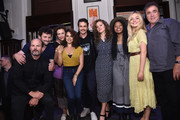 (L-R) Actors Chris Bauer, Daniel Sauli, Maggie Gyllenhaal, Sepideh Moafi, James Franco, Margarita Levieva, Dominique Fishback, Emily Meade and Michael Rispoli  attend 'An Evening with the Cast of HBO's The Deuce' to benefit Housing Works at the Housing Works Bookstore Cafe on June 23, 2019 in New York City.