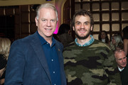 "Former NFL Quarterback Boomer Esiason (L) and Gunnar Esiason attend the Boomer Esiason Foundation's Annual ""Refi Rock"" at Lavo on November 16, 2017 in New York City."