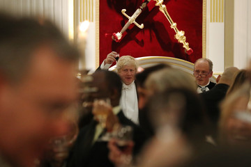 Boris Johnson Boris Johnson And Guests Attend The Lord Mayor's Easter Banquet