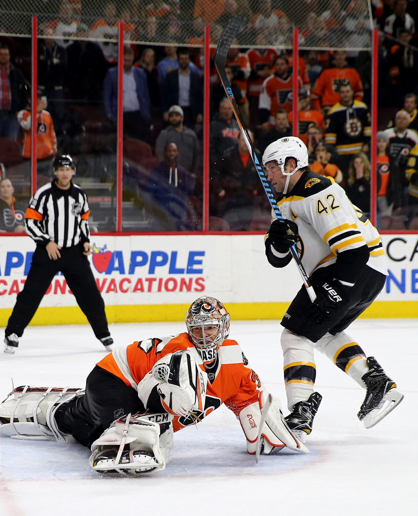 David Backes In Boston Bruins V Philadelphia Flyers