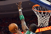Thaddeus Young #21 of the Philadelphia 76ers puts up a shot against Mickael Pietrus #28 of the Boston Celtics in Game Three of the Eastern Conference Semifinals in the 2012 NBA Playoffs at the Wells Fargo Center on May 16, 2012 in Philadelphia, Pennsylvania. NOTE TO USER: User expressly acknowledges and agrees that, by downloading and or using this photograph, User is consenting to the terms and conditions of the Getty Images License Agreement.
