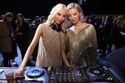 DJ Soo Joo Park (L) and Irene Kim attend the Bottega Veneta Fall/Winter 2018 fashion show at New York Stock Exchange on February 9, 2018 in New York City.