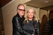 "Peter Fonda (L) and Margaret DeVogelaere attend the ""Boundaries"" New York screening after party at The Roxy Cinema on June 11, 2018 in New York City."