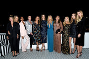 (L-R) Rebecca Gayheart, Kelly Sawyer, Lizzy Mathis, Anna Schafer, Vanessa Lachey, Candace Nelson, Rachel Zoe, guest, Brooke Horrell Mahan, Elizabeth Chambers Hammer, and Tori Praver attend the Box of Style By Rachel Zoe Female Founders Dinner at The AllBright West Hollywood on October 03, 2019 in West Hollywood, California.