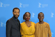 "(L-R) Director Chiwetel Ejiofor, Aissa Maiga and Maxwell Simba pose at the photocall for the Netflix film ""The Boy Who Harnessed The Wind"" during the 69th Berlinale International Film Festival Berlin at Grand Hyatt Hotel on February 12, 2019 in Berlin, Germany."