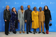 "(L-R) Producer Gail Egan, casting director Alexa Fogel, author William Kamkwamba, director Chiwetel Ejiofor, actress Aissa Maiga, actor Maxwell Simba and producer Andrea Calderwood pose at the photocall for the Netflix film ""The Boy Who Harnessed The Wind"" during the 69th Berlinale International Film Festival Berlin at Grand Hyatt Hotel on February 12, 2019 in Berlin, Germany."