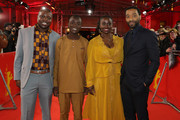 "(L-R) Author William Kamkwamba, Maxwell Simba, Aissa Maiga and director Chiwetel Ejiofor attend the premiere for the screening of the Netflix film ""The Boy Who Harnessed The Wind"" during the 69th Berlinale International Film Festival Berlin at Friedrichstadtpalast on February 12, 2019 in Berlin, Germany."