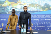 "(L-R) Maxwell Simba and director Chiwetel Ejiofor arrive for the press conference for the Netflix film ""The Boy Who Harnessed The Wind"" during the 69th Berlinale International Film Festival Berlin at Grand Hyatt Hotel on February 12, 2019 in Berlin, Germany."