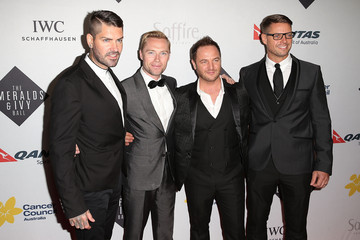 Boyzone Arrivals at the Emeralds Ivy Ball