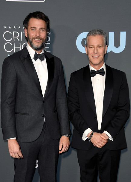 The 24th Annual Critics' Choice Awards - Arrivals [suit,formal wear,tuxedo,white-collar worker,event,premiere,tie,blazer,facial hair,style,arrivals,brad fuller,critics choice awards,santa monica,california,barker hangar,andrew form,l]