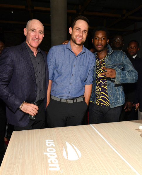 Andy Roddick, Monica Puig, And Leon Bridges At 'Legends, Unmatched' Event [leon bridges excite the crowd with an epic table tennis match and performance,event,fun,leisure,dinner,andy roddick,monica puig,brad gilbert,tennis,leon bridges,ihg hotels resorts ``legends unmatched,party,kimpton hotel eventi,event]