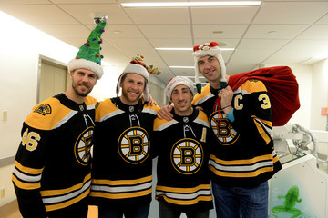Brad Marchand Boston Bruins Holiday Toy Drop For Patients At Boston Children's Hospital