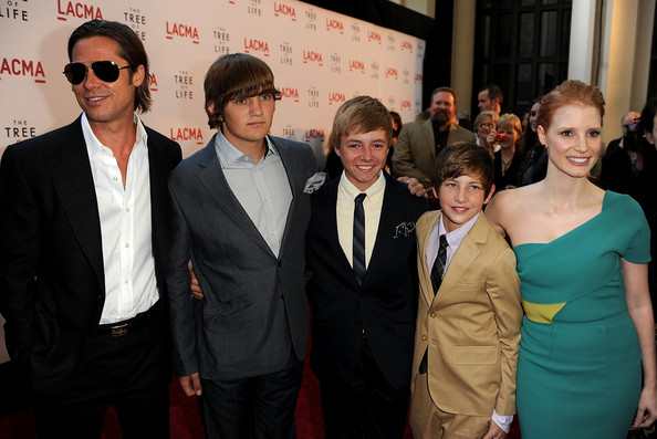 """Premiere Of Fox Searchlight Pictures' """"The Tree Of Life"""" - Red Carpet [the tree of life,event,premiere,suit,white-collar worker,carpet,red carpet,red carpet,actors,laramie eppler,tye sheridan,l-r,los angeles county museum of art,fox searchlight pictures,premiere,premiere]"""