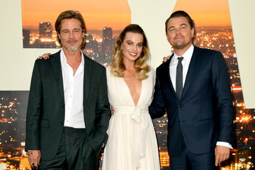 Brad Pitt Margot Robbie Sony Pictures' 'Once Upon A Time...In Hollywood' Los Angeles Premiere - Red Carpet