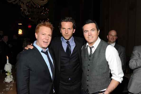 "Bradley Cooper (L-R) Producer Ryan Kavanaugh, actor/producer Bradley Cooper and producer Tucker Tooley attend the after party for Relativity Media's world premiere of ""Limitless"" presented by Deleon Tequila at Buddakan on March 8, 2011 in New York City."
