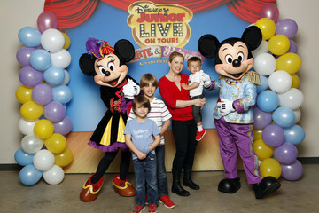 Brady Wilkerson Melissa Joan Hart, Husband Mark Wilkerson And Their Sons Tucker, Braydon And Mason Meet Mickey Mouse And Minnie Mouse At A Performance Of Disney Junior Live On Tour! Pirate & Princess Adventure