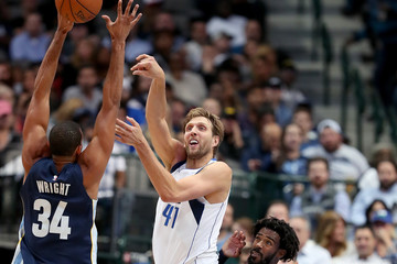 Brandan Wright Memphis Grizzlies v Dallas Mavericks