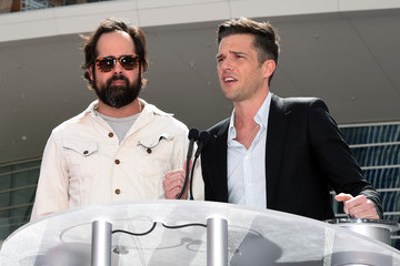Brandon Flowers Ronnie Vannucci Jr T-Mobile Arena and Toshiba Plaza Grand Opening in Las Vegas