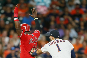 Brandon Phillips Los Angeles Angels of Anaheim v Houston Astros