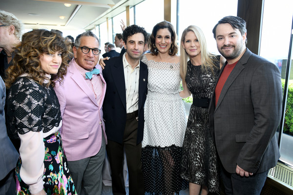 2019 Tony Awards Nominees' Luncheon [event,fashion,community,fun,fashion design,smile,dress,ceremony,formal wear,party,luncheon,tony awards,the rainbow room,nominees,sarah stiles,robert horn,kelli ohara,brandon uranowitz,stephanie j. block,alex brightman]