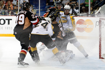 Jay Fehr Brandon Wheat Kings v Calgary Hitmen