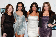 (L-R) TV personalities Caroline Manzo, Melissa Gorga, Kathy Wakile and Jacqueline Laurita attend the Bravo Upfront 2012 at Center 548 on April 4, 2012 in New York City.