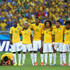 Jo Daniel Alves Photos - (L-R) Thiago Silva, Luiz Gustavo, Ramires, Dani Alves, Jo, Marcelo, Hulk, Willian and Neymar of Brazil look on during a penalty shootout during the 2014 FIFA World Cup Brazil round of 16 match between Brazil and Chile at Estadio Mineirao on June 28, 2014 in Belo Horizonte, Brazil. - Brazil v Chile: Round of 16 - 2014 FIFA World Cup Brazil